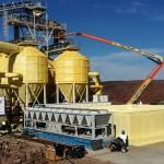 Isolamento silos di raffreddamento aggregati - Diga Namibia - Salini Impregilo Spa